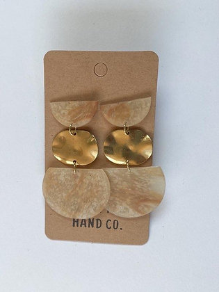 Mocha/Gold Earrings