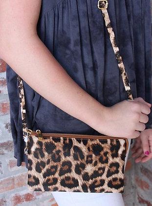 Leopard Crossbody/Wristlet