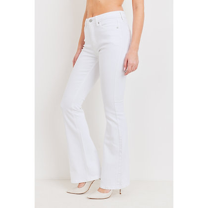 High Rise White Denim