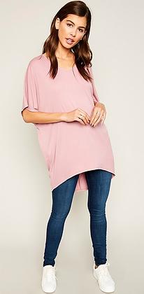Modal Pink Long Top