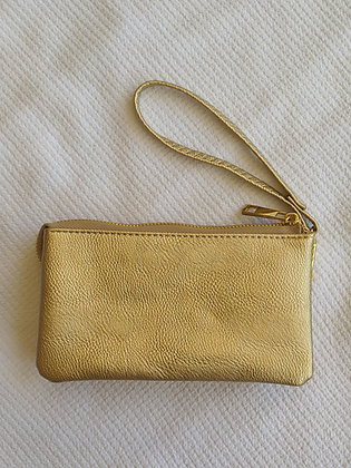 Small Gold Wristlet
