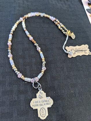 Catholic Pendant vintage necklace