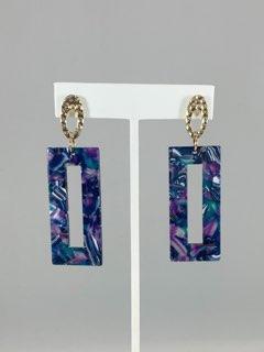 Rectangle Acrylic Earrings