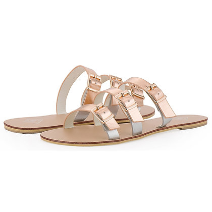 Rose Gold Buckle Sandals