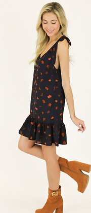 (L)Leopard Shift Dress