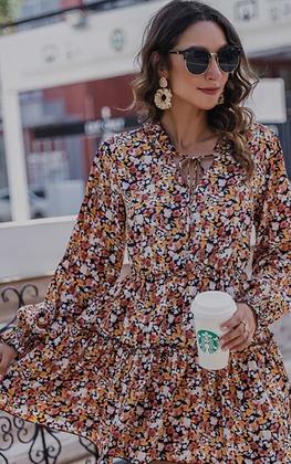 (S)Boho Floral Dress
