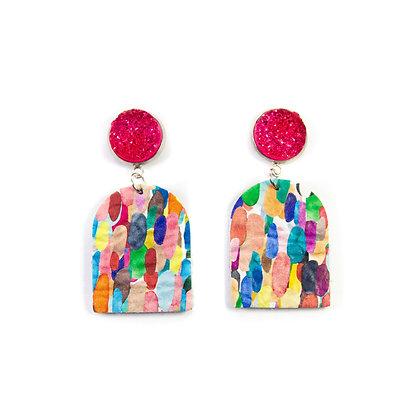 Confetti Leather Earrings
