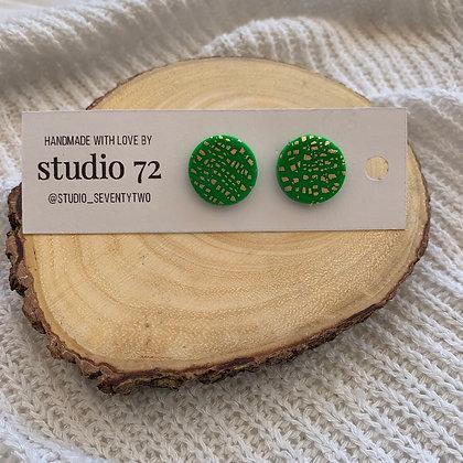 Green Circle Studs