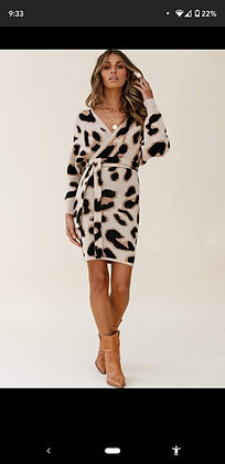 Cheetah Sweater Dress