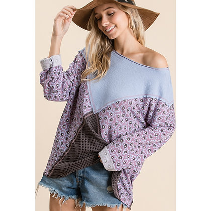 Purple/Blue MultiColor Top