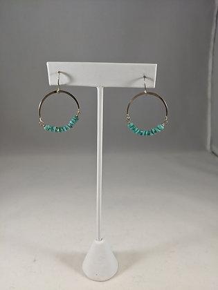 Sterling Silver Turquoise Hoop