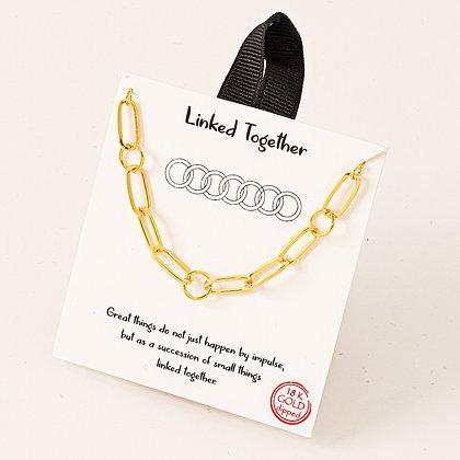 """""""Linked Together"""" necklace"""