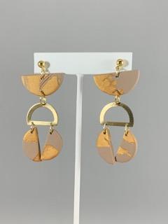 Mocha/Gold Shimmer Earrings