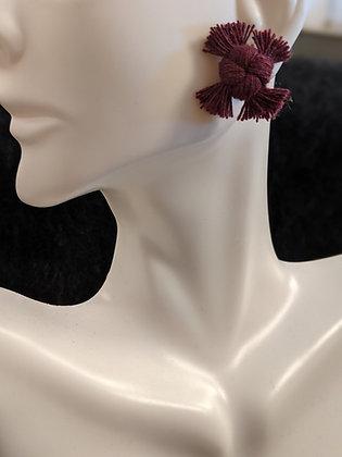 Dark Berry Knot Earrings
