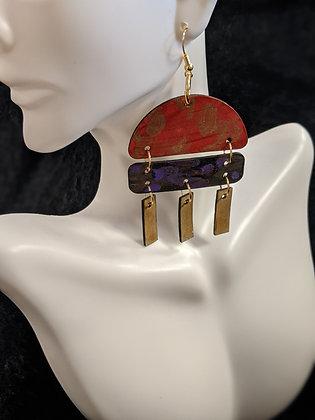 Purple/Red Mix Earrings