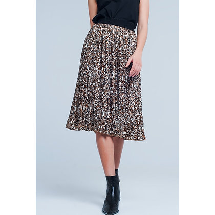 (S)Pleated midi skirt