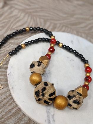 Cheetah Fur Necklace