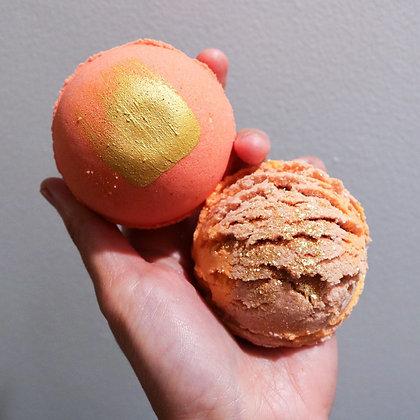 Bath Bomb+ Bubble Truffle Set