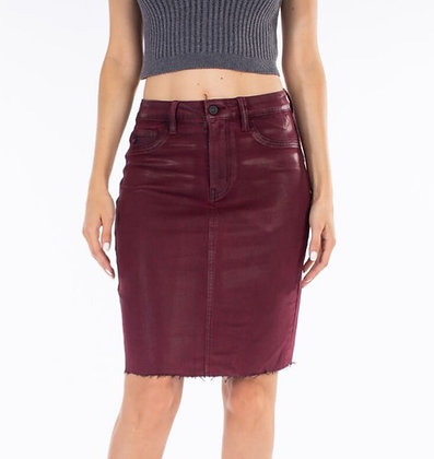 (XS)Wax Coated Skirt