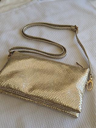 Gold Foil Crossbody/Wristlet