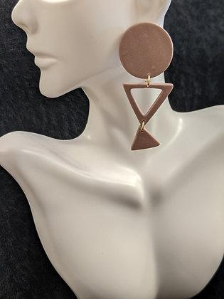 Mauve Mix Shape Earrings