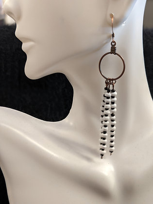 Wooden/Glass Beaded Earrings