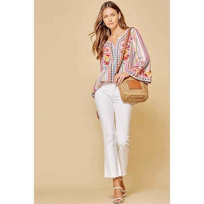 Multicolor Embroidered Top