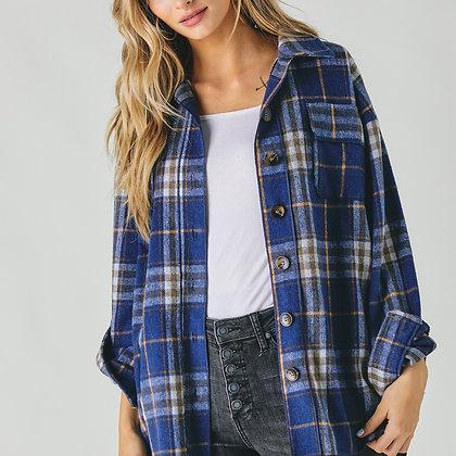 Flannel Button Jacket