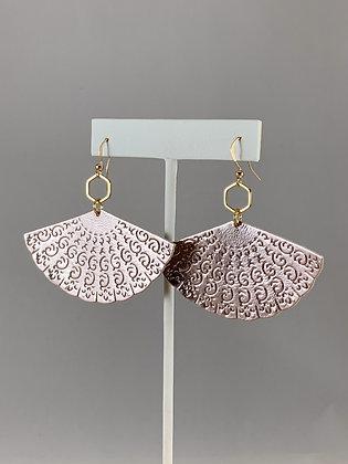 Metallic Fan Earrings