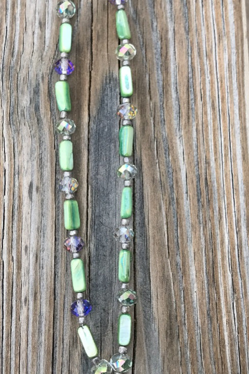 Glass and Crystal Necklace