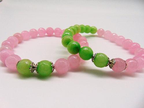 AKA Inspired - Pink and Green Jade