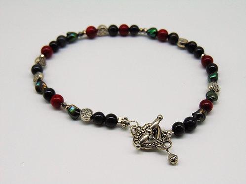 Delicate multi-stone beaded bracelet