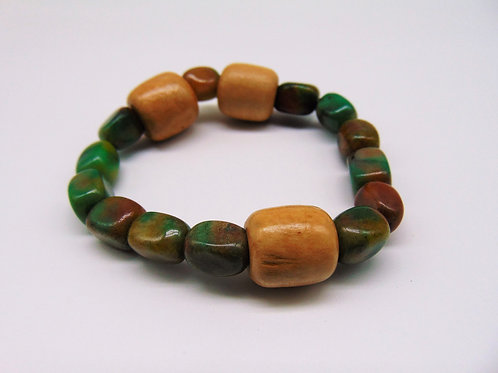 Jade and Wooden Braclet
