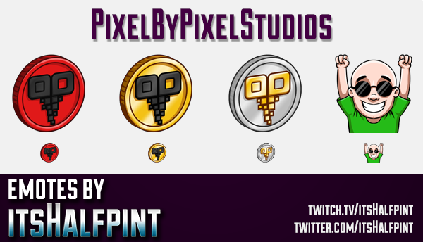 PixelByPixel  | Twitch Emotes | Cute Emotes | Custom Twitch Emotes | Emote Commissions | itsHalfpint