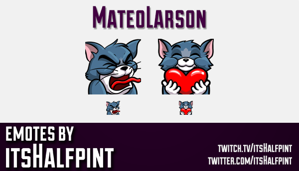 MateoLarson  | Twitch Emotes | Cute Emotes | Custom Twitch Emotes | Emote Commissions | itsHalfpint