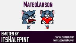 MateoLarson  | Twitch Emotes | Cute Emotes | Custom Twitch Emotes | Emote Commissions | itsHalfpint