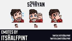 s24Ryan  | Twitch Emotes | Cute Emotes | Custom Twitch Emotes | Emote Commissions | itsHalfpint | Mi