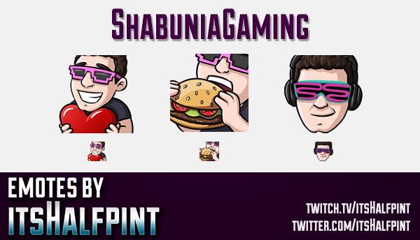 ShabuniaGaming | Twitch Emotes | Cute Emotes | Custom Twitch Emotes | Emote Commissions | itsHalfpin