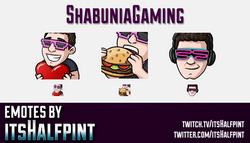 ShabuniaGaming | Twitch Emotes | Cute Emotes | Custom Twitch Emotes | Emote Commissions | itsHalfpin