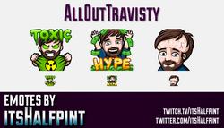 AllOutTravisty  | Twitch Emotes | Cute Emotes | Custom Twitch Emotes | Emote Commissions | itsHalfpi