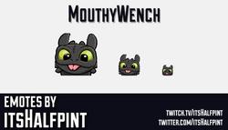 MouthyWench | Twitch Emotes | Cute Emotes | Custom Twitch Emotes | Emote Commissions | itsHalfpint |