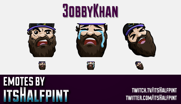 3obbyKhan | Twitch Emotes | Cute Emotes | Custom Twitch Emotes | Emote Commissions | itsHalfpint | M