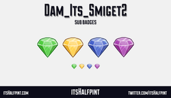Dam_Its_Smiget2 Twitch Sub Badges Bit Cheer Sonic Chaos Emerald