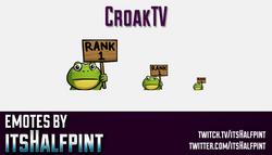 CroakTV  | Twitch Emotes | Cute Emotes | Custom Twitch Emotes | Emote Commissions | itsHalfpint | Mi