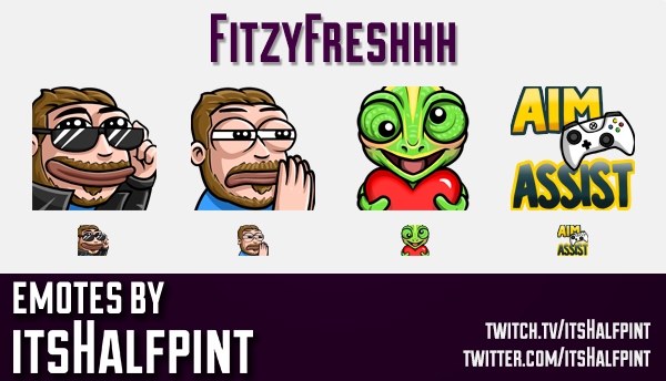 FitzyFreshhh  | Twitch Emotes | Cute Emotes | Custom Twitch Emotes | Emote Commissions | itsHalfpint