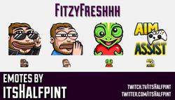 FitzyFreshhh  | Twitch Emotes | Cute Emotes | Custom Twitch Emotes | Emote Commissions | itsHalfpint