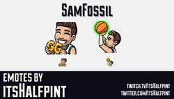 SamFossil  | Twitch Emotes | Cute Emotes | Custom Twitch Emotes | Emote Commissions | itsHalfpint |