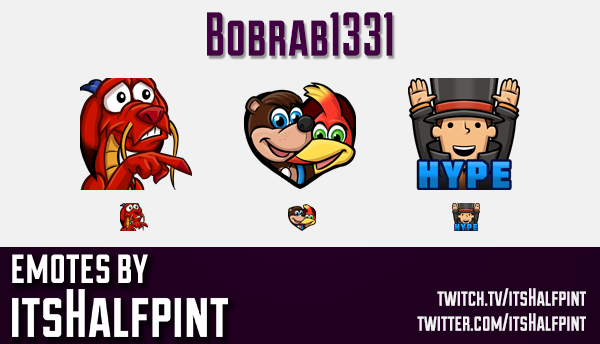 Bobrab1331 | Banjo Kazooie | Professor Layton |  | Twitch Emotes | Cute Emotes | Custom Twitch Emote