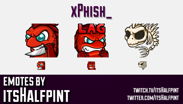xPhish_  | Twitch Emotes | Cute Emotes | Custom Twitch Emotes | Emote Commissions | itsHalfpint | Mi