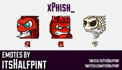 xPhish_  | Twitch Emotes | Cute Emotes | Custom Twitch Emotes | Emote Commissions | itsHalfpint | Mi